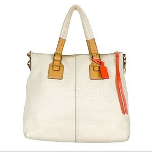 Coach Legacy Pebbled Rory North South Leather Tote